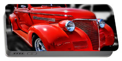 Red Chevy Hot Rod Portable Battery Charger by Victor Montgomery