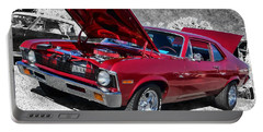 Red Chevy Nova Portable Battery Charger by Victor Montgomery