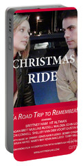 Red Christmas Ride Poster Portable Battery Charger