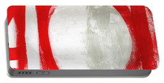 Red Circle 3- Abstract Painting Portable Battery Charger