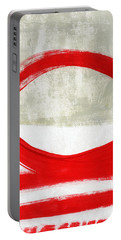 Red Circle 4- Abstract Painting Portable Battery Charger
