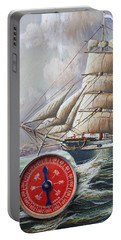 Red Compass On Ship Painting Portable Battery Charger