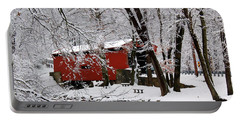 Red Covered Bridge Winter 2013 Portable Battery Charger