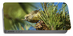 Red Crossbill Eating Cone Seeds Portable Battery Charger