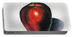 Red Delicious Apple Portable Battery Charger by Marna Edwards Flavell
