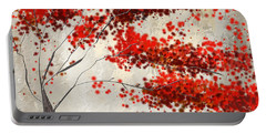 Red Divine- Autumn Impressionist Portable Battery Charger