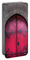 Portable Battery Charger featuring the photograph Red Door by Alana Ranney