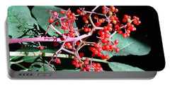 Red Elderberry Portable Battery Charger