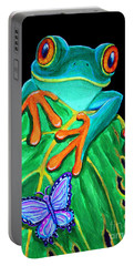 Red-eyed Tree Frog And Butterfly Portable Battery Charger
