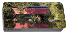 Red Fairhill Covered Bridge Two Portable Battery Charger