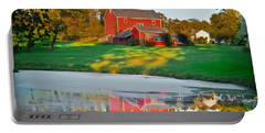 Portable Battery Charger featuring the photograph Red Farm House by Gary Keesler
