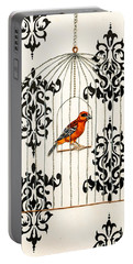 Red Finch Portable Battery Charger by Stefanie Forck