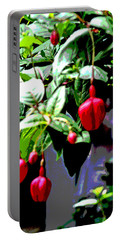 Red Flower Buds Portable Battery Charger
