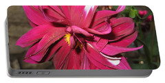 Portable Battery Charger featuring the photograph Red Flower In Bloom by HEVi FineArt