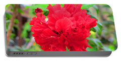 Portable Battery Charger featuring the photograph Red Flower by Sergey Lukashin