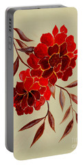 Red Flowers - Painting Portable Battery Charger