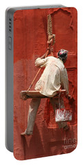 Red Fort Painter Portable Battery Charger by Nola Lee Kelsey