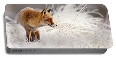 Red Fox And Hoar Frost _ The Catcher In The Rime Portable Battery Charger