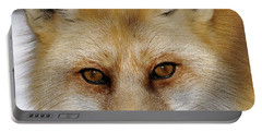 Red Fox Portrait Portable Battery Charger by Rodney Campbell