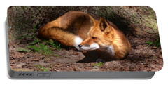 Red Fox Resting Portable Battery Charger