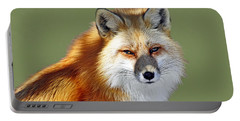 Red Fox Portable Battery Charger by Rodney Campbell