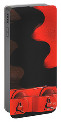 Red Gear Portable Battery Charger by J L Woody Wooden