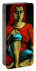 Red Hair Woman Portable Battery Charger