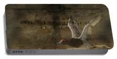Red Head Duck Old Box Portable Battery Charger by Randall Branham