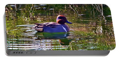 Red Headed Duck Portable Battery Charger by Susan Garren