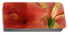 Portable Battery Charger featuring the photograph Red Hibiscus by Ben and Raisa Gertsberg