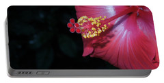 Portable Battery Charger featuring the photograph Red Hibiscus by Ron Davidson