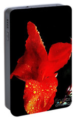 Portable Battery Charger featuring the photograph Red Hot Canna Lilly by Michael Hoard