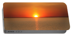 Red-hot Sunset Portable Battery Charger by John Telfer