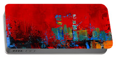 Portable Battery Charger featuring the painting Red Inspiration by Elise Palmigiani