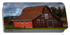 Portable Battery Charger featuring the photograph Red Kirsop Barn by Jean OKeeffe Macro Abundance Art
