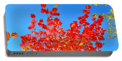 Portable Battery Charger featuring the photograph Red Leaves by David Lawson