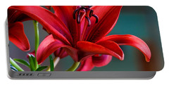 Red Lily Portable Battery Charger