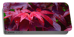Portable Battery Charger featuring the photograph Red Maple After Rain by Ann Horn