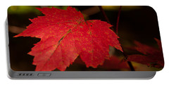 Red Maple Leaf In Fall Portable Battery Charger