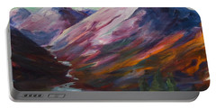 Red Mountain Surreal Mountain Lanscape Portable Battery Charger by Yulia Kazansky