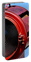 Red Movie Light Portable Battery Charger by Art Block Collections