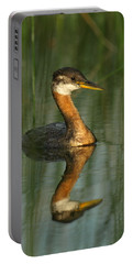 Portable Battery Charger featuring the photograph Red-necked Grebe by James Peterson