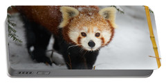 Red Panda In The Snow Portable Battery Charger