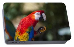 Red Parrot  Portable Battery Charger by Garry Gay