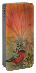 Red Peace Bird Portable Battery Charger