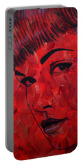 Red Pop Bettie Portable Battery Charger by Malinda Prudhomme