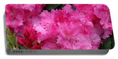 Red Rhododendrons Portable Battery Charger