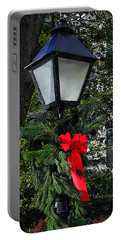 Red Ribbon Christmas Portable Battery Charger