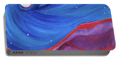 Portable Battery Charger featuring the painting Red Ridge By Jrr by First Star Art