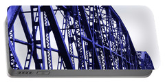 Portable Battery Charger featuring the photograph Red River Train Bridge #5 by Robert ONeil